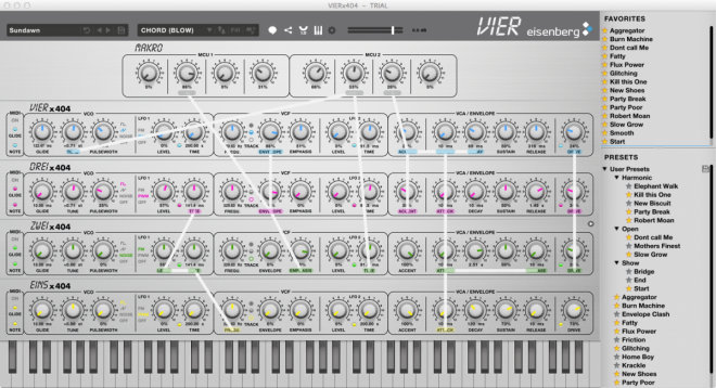 VIER features a Preset Browser.